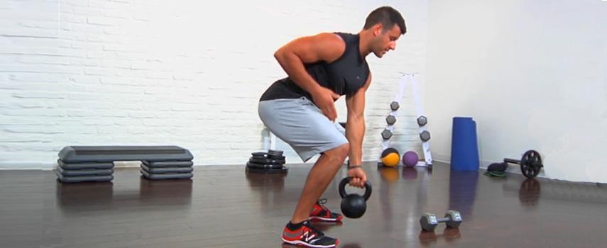 kettlebell rutina entrenamiento abdominales