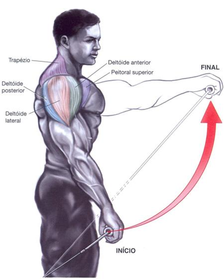 Fabuloso Exercícios ombros – Levantamento frontal com cabo   Prozis US53