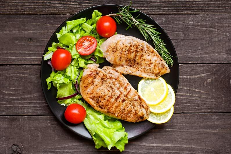 Dieta rica em proteína e pobre em hidratos de carbono