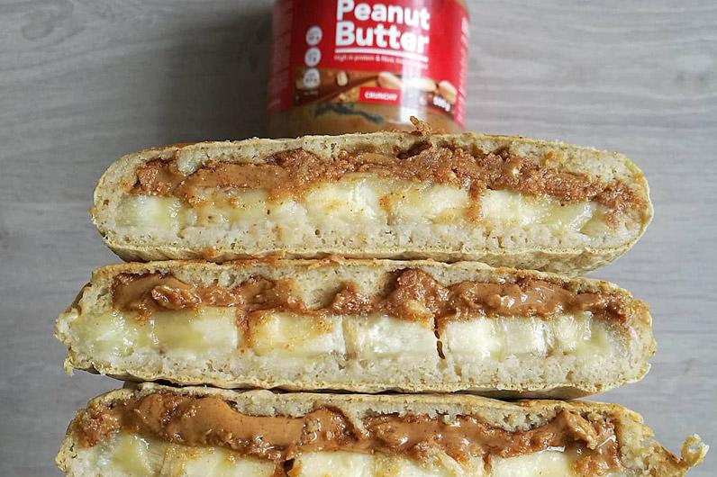 Recette crêpes fourrés au beurre de cacahuète et à la banane