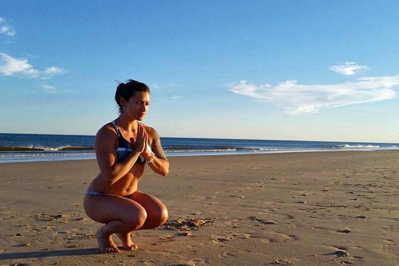 Ana Taboada na praia