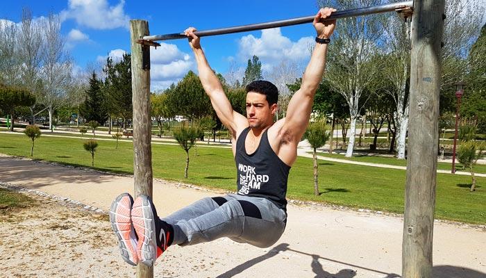 Hanging leg-raise