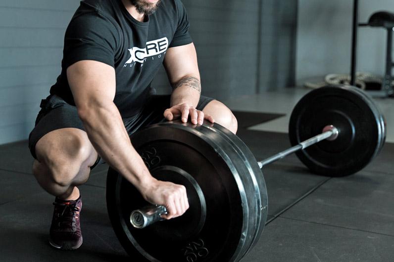 Man building muscle mass