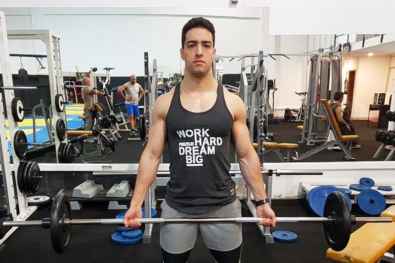 Exercícios braços: Bíceps curl com barra - Nuno Feliciano