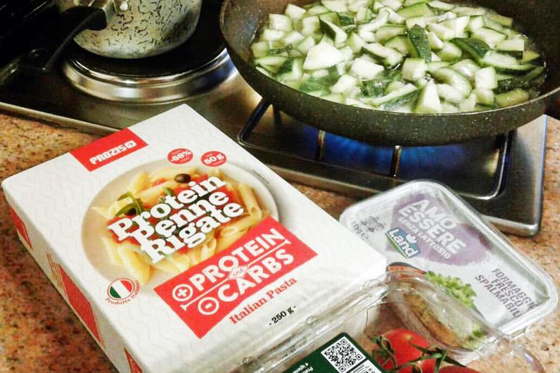 Ricette per una cena leggera e dietetica con pasta proteica - Ricetta proteiche