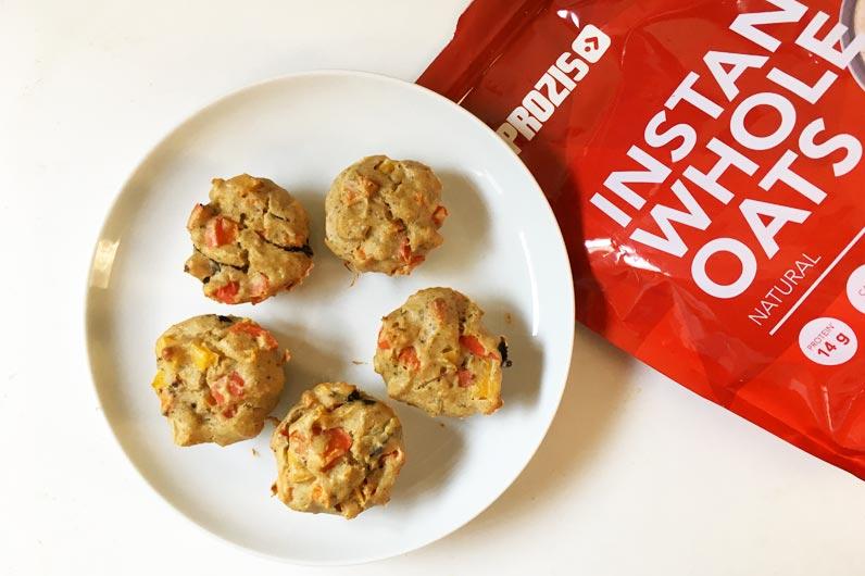 Recettes végétariennes : Muffins aux légumes et galettes protéinés