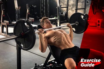 Chest exercises – Incline bench press with barbell