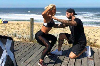Plano de treino de praia: exercícios com peso corporal